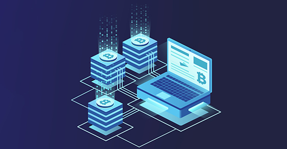 Cryptocurrency and blockchain. Platform creation of digital currency.